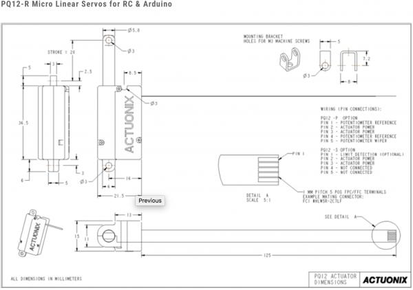 PQ12 Series Micro Linear Actuators