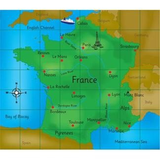 Bee-Bot Frankreich-Spielfeld
