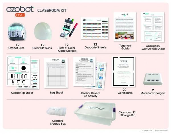 Ozobot Evo Classroom Kit, White