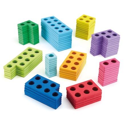 Coloured Magnetic Number Frames 80pcs