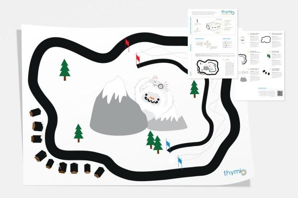 Thymio II Entdeckungskarte Yeti