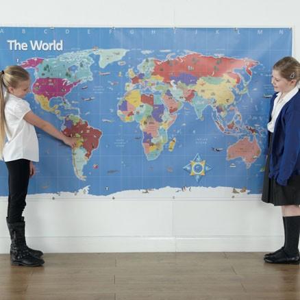 Tapis de jeu Bee-Bot : Carte du monde
