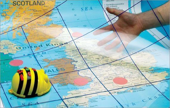 Bee-Bot tappetino trasparente per percorsi