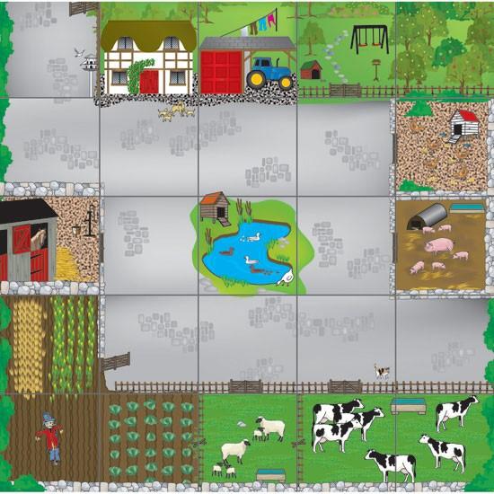 Tapis de jeu Bee-Bot : A la ferme