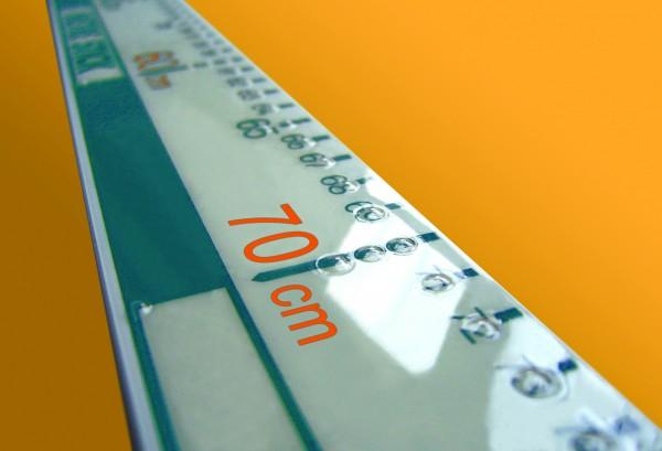 Zahlenlineal mit Braille