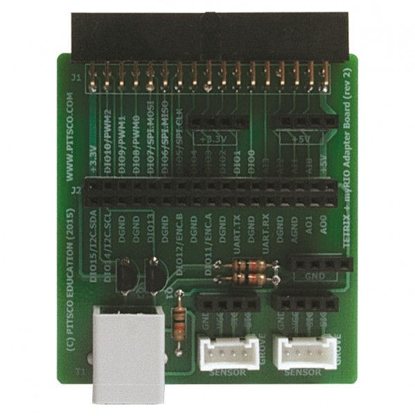 TETRIX® + myRIO Control Board Adapter