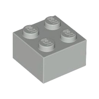 LEGO® Medium Stone Grey Brick 2x2