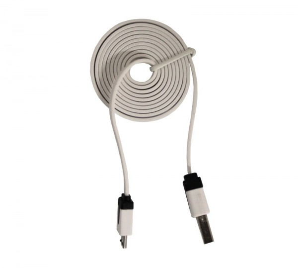 1m USB Type-A to Micro-B USB Noodle Cable