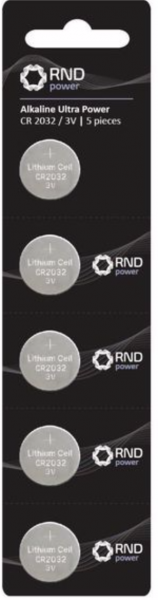 CR2032 3V Coin Cell, pack of 5